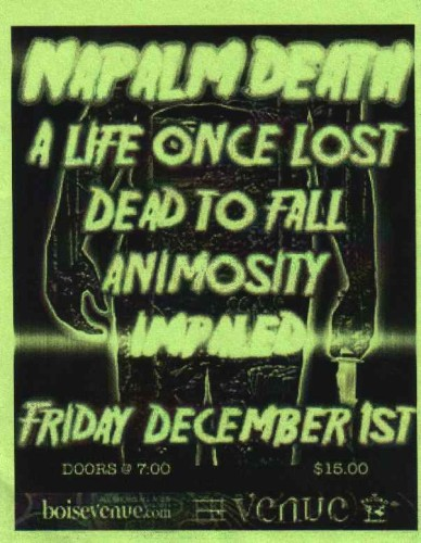 Impaled napalm death flyer