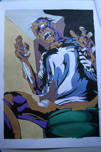 Gross anatomy painting