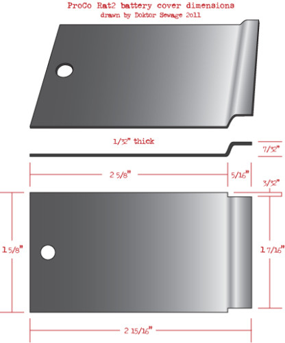 ProCo Rat 2 battery cover illustration