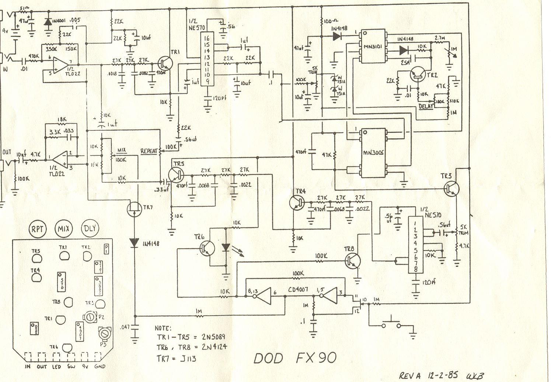 hot rod dod mod fx90 analog delay \u2013 doktor ross sewagedod fx90  schematic