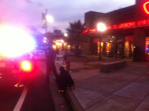 Actual thieves actually caught in front of Guitar Center. Photo by Shelby Lermo